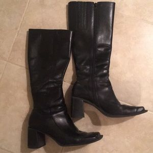 Genuine leather tall boots